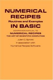 Cover of: Numerical recipes by Julien C. Sprott