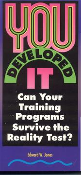 Cover of: You developed it by Edward W. Jones
