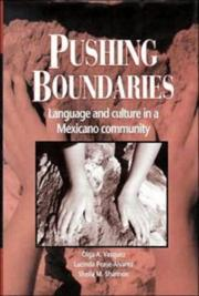 Cover of: Pushing boundaries | Olga A. Vasquez