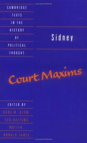 Cover of: Court maxims | Sidney, Algernon