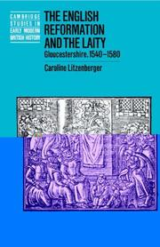 Cover of: The English Reformation and the laity | C. J. Litzenberger