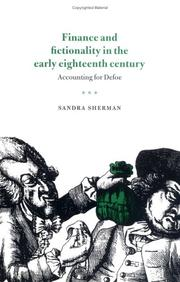 Cover of: Finance and fictionality in the early eighteenth century | Sandra Sherman