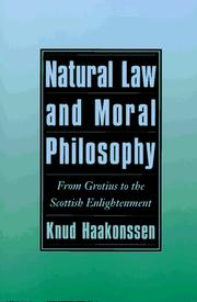 Cover of: Natural law and moral philosophy by Knud Haakonssen