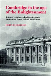 Cover of: Cambridge in the Age of the Enlightenment | John Gascoigne