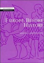 Cover of: Europe before history | Kristiansen, Kristian
