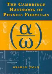 Cover of: The Cambridge handbook of physics formulas | Graham Woan