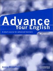 Cover of: Advance your English Workbook | Annie Broadhead
