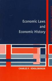 Cover of: Economic Laws and Economic History (Raffaele Mattioli Lectures) by Charles P. Kindleberger