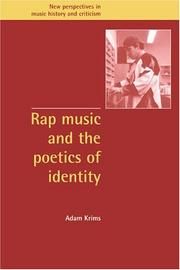 Cover of: Rap music and the poetics of identity | Adam Krims