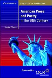 Cover of: American prose and poetry in the twentieth century | Caroline Zilboorg