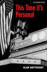 Cover of: This Time It's Personal Book/Audio CD Pack | Alan Battersby