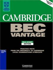 Cover of: Cambridge BEC Vantage 1 | University of Cambridge Local Examinations Syndicate