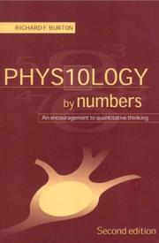 Cover of: Physiology by Numbers | Burton, Richard Sir