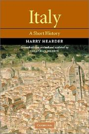 Cover of: Italy | Harry Hearder