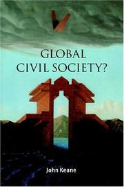 Cover of: Global Civil Society? (Contemporary Political Theory) by John Keane