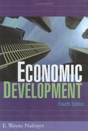 Cover of: Economic development by E. Wayne Nafziger