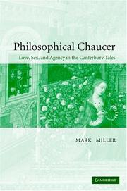Cover of: Philosophical Chaucer by Miller, Mark