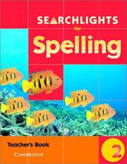 Cover of: Searchlights for Spelling Year 2 Teacher's Book (Searchlights for Spelling) | Pie Corbett