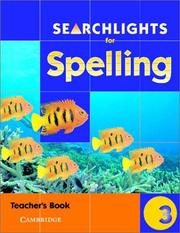 Cover of: Searchlights for Spelling Year 3 Teacher's Book (Searchlights for Spelling) | Pie Corbett