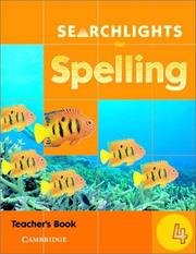 Cover of: Searchlights for Spelling Year 4 Teacher's Book (Searchlights for Spelling) by Pie Corbett