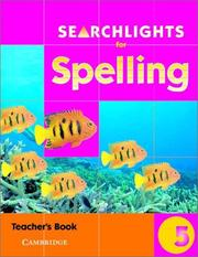 Cover of: Searchlights for Spelling Year 5 Teacher's Book (Searchlights for Spelling) | Pie Corbett
