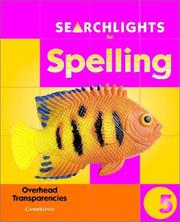 Cover of: Searchlights for Spelling Year 5 Overhead Transparencies (Searchlights for Spelling) | Pie Corbett