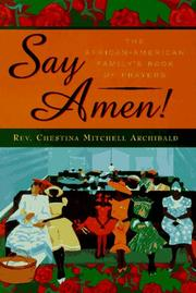 Cover of: Say Amen | Chestina Mitchell Archibald