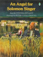 Cover of: An Angel for Solomon Singer | Cynthia Rylant