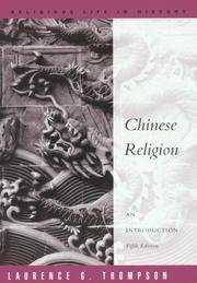 Cover of: Chinese religion by Laurence G. Thompson