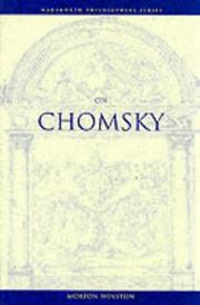 Cover of: On Chomsky | Morton Emanuel Winston