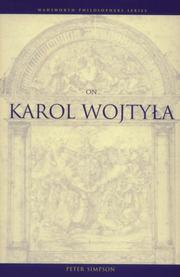 Cover of: On Karol Wojtyła | Peter Simpson, Simpson, Peter