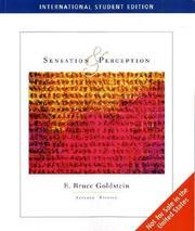 Cover of: Sensation and Perception, Media Edition | E. Bruce Goldstein