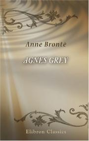 Cover of: Agnes Grey | Anne Brontë