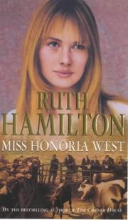 Cover of: Miss Honoria West | Ruth Hamilton
