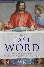 Cover of: The last word | N. T. Wright