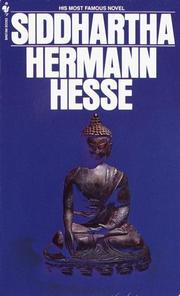 Cover of: Siddhartha by Hermann Hesse