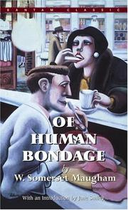 Cover of: Of Human Bondage by W. Somerset Maugham