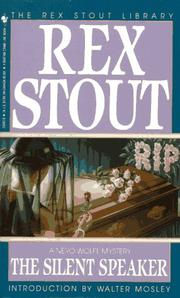 Cover of: The Silent Speaker (Crime Line) | Rex Stout