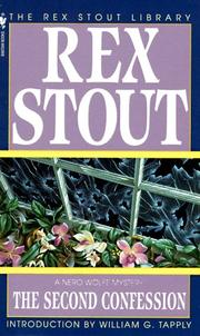 Cover of: The Second Confession (The Rex Stout Library: a Nero Wolfe Mystery) | Rex Stout