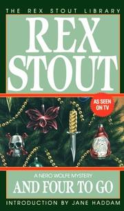 Cover of: And Four to Go (Crime Line) by Rex Stout