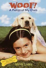 Cover of: A puppy of my own | Wendy Loggia