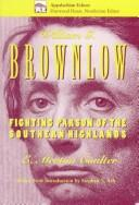 Cover of: William G. Brownlow | Coulter, E. Merton