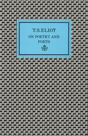 Cover of: On poetry and poets | T. S. Eliot