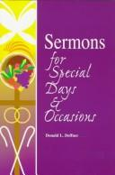 Cover of: Sermons for special days & occasions | Donald L. Deffner