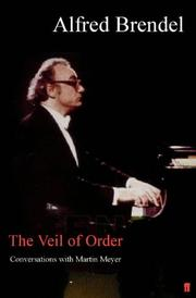 Cover of: The veil of order by Alfred Brendel