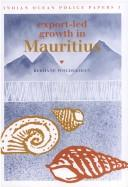 Cover of: Export-led growth in Mauritius | Berhanu Woldekidan