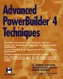Cover of: Advanced PowerBuilder 4 techniques | Darius Derrik Deyhimi