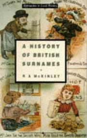 Cover of: A history of British surnames | R. A. McKinley