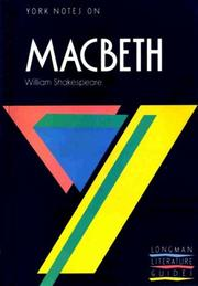 "Cover of: York Notes on William Shakespeare's ""Macbeth"" 