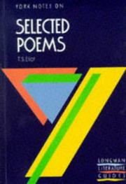 "Cover of: York Notes on T.S.Eliot's ""Selected Poems"" by M. Herbert"